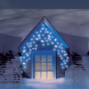 4.6m/15ft Set of 200 Blue Multifunction Snowing Icicle LED Lights