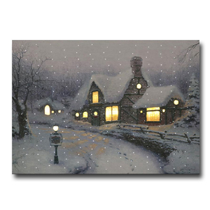 "Christmas Decoration  - 50 x 70cm Thomas Kinkade ""Olde Porterfield Gift Shop"" Canvas"