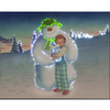 50x40cm The Snowman,  Billy & Snowdog Large Illuminated Wall Canvas