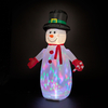 6ft Inflatable Snowman with Multicolour Disco Light Show
