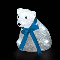 Christmas Decoration  - Acrylic Miniature Bear with Ice White LEDs