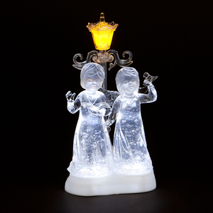 Christmas Decoration  - Acrylic Water Angels with Ice White LEDs