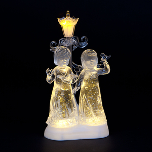 Christmas Decoration  - Acrylic Water Angels with Warm White LEDs