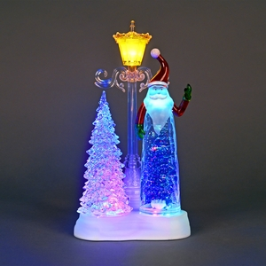Christmas Decoration  - Acrylic Water-Filled Santa Figurine