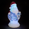 Battery Operated Water Santa with Changing LEDs