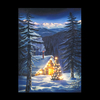 Cabin in the Woods Illuminated Canvas