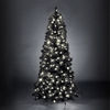 Duchess Spruce Slim Black Pre-Lit LED Christmas Tree