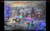 "Nicky Boehme ""Christmas Cottage"" Illuminated Hanging Tapestry"