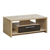 Oak and Black Tamara Coffee Table with 1 Drawer