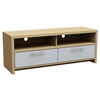 Oak and White Tamara Wide Entertainment Stand