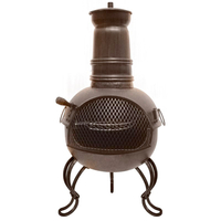 Dining Room  - Ohio Small Chimenea with BBQ Grill - Bronze