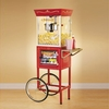 Old Fashioned Movie Time Popcorn Cart with Concession Stand