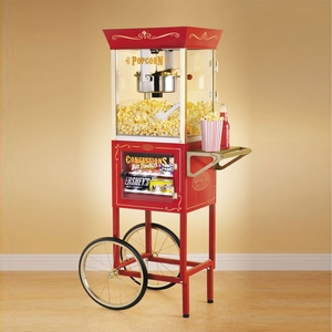 Christmas Decoration  - Old Fashioned Movie Time Popcorn Cart with Concession Stand