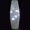 "Silver Glittered ""Winter Blues"" Illuminated Slim Cylindrical Vase"