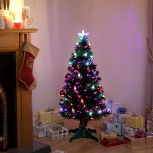 Christmas Decoration|Christmas Trees  - Victoriana Colour Changing Lantern Fibre Optic Christmas Tree