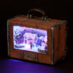 Christmas Decoration  - Village-In-A-Suitcase Illuminated Display