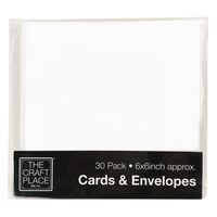 Figures  - 30 White Cards And Envelopes - 6 X 6 Inches