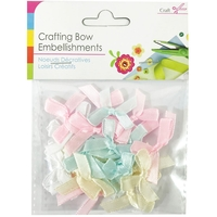 Arts & Crafts Supplies  - Fabric Crafting Bow Embellishments - Assorted