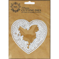 Books  - Lace Heart 2 Piece Metal Cutting Die