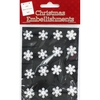 White Snowflake Embellishments - Pack Of 16