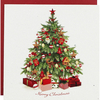 White Tree Premium Christmas Cards - Pack Of 10