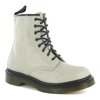 Dr Martens 1460W Womens Hi Shine Snake Suede Leather Ankle Boot - Off White
