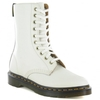Dr Martens Alix Womens Polished Smooth Leather 10-Eyelet Boots - Off White