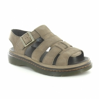 Dr Martens Mens Twohill Leather Fisherman Sandals - Moss Brown