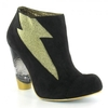 Irregular Choice Honey Blossom 380135A Womens Suede Ankle Boots Black