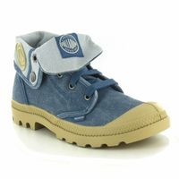 Palladium Baggy Low Canvas Womens Boots Blue