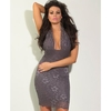 Jessica Wright Cassie Halterneck Charcoal Dress