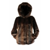 Women's Mink hooded jacket