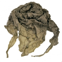 Scarves & Headscarves  - Mink Brown Bubble Textured Triangle Scarf