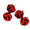 Red & Navy Blue Elastic Knot Cufflinks