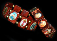 Holiday & Party Decorations  - Religious Icon Bracelets - Wooden Beads