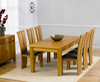 Tables Aztec Oak Small Extending Dining Set extending table + 4 chairs brown seat - palos chairs