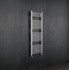 Kudox - Chrome Flat Heated Towel Rail 1500mm x 500mm