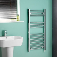 Kudox - Chrome Flat Standard Electric Towel Rail 1000mm x 500mm