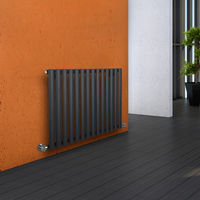 Milano Aruba - Luxury Anthracite Horizontal Designer Radiator 635mm x 834mm