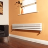 Milano Aruba - White Narrow Horizontal Designer Radiator 236mm x 1600mm (Double Panel)