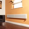 Milano Aruba - White Narrow Horizontal Designer Radiator 236mm x 1780mm (Double Panel)