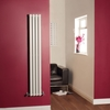 Milano Aruba - White Narrow Vertical Designer Radiator 1600mm x 236mm