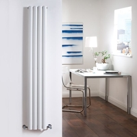 Milano Aruba - White Slim Vertical Designer Radiator 1780mm x 236mm (Double Panel)