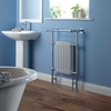 Towel Rails Milano Trent - Traditional Heated Towel Radiator 930mm x 620mm (Protruding Top Rail)