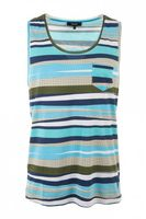 T-Shirts, Polos & Tops  - Striped Vest Light Blue