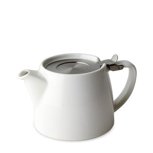Coffee and Tea Sets  - Sherston Stump Teapot with Lid and Infuser 19.4oz Vanilla White (Each)