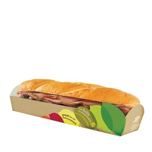 Storage Containers & Boxes  - St Neots Packaging Seasons Eco Baguette Tray 260x72x35mm Brown (1 x 500)