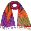 Clothing & Accessories Women Luxurious Pink Silk Scarf - Colourful Silk Scarves for women - Ladies paisley scarves