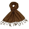 Clothing & Accessories Womens Chocolate Brown Scarf - Pashminas Scarves - Various patterns, designs and colours - Striped, Sparkly, Checked - Scarf for ladies & girls