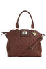 Amber Tan Ostrich Quilted Bag